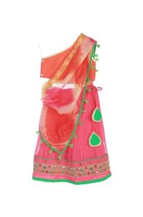 Orange & pink lehenga set