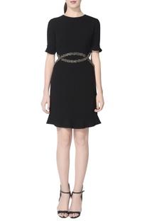 Black dress with embellishments