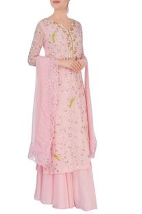 Pastel pink kurta set