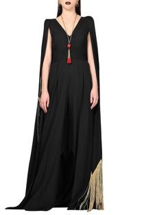 Black cape jumpsuit