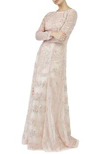 Blush embellished gown