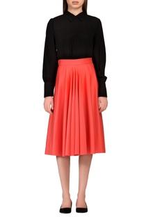 Peach scuba style skirt