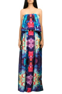 Multicolored tube gown