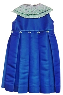 Blue peter pan collar dress