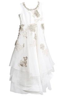Offwhite layered dress