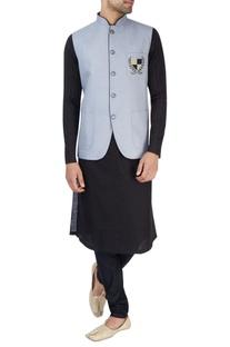 Powder blue Nehru jacket