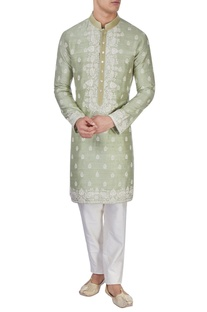 Light green embroidered kurta