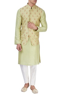 Light green embroidered bandi jacket