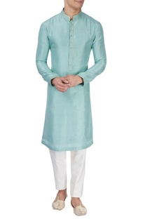 Light blue silk kurta