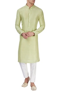 Light green silk kurta