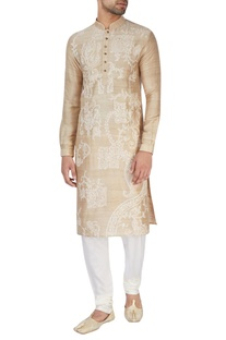 Champagne embroidered kurta