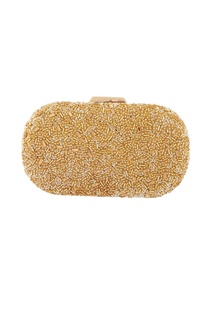 Gold bead & stone encrusted clutch