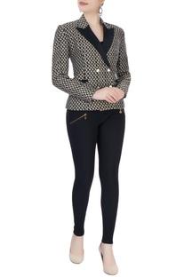Black double breast jacket