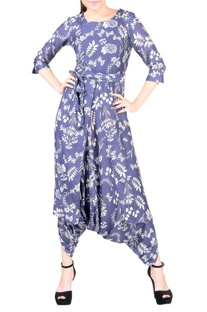 Purple dhoti jumpsuit