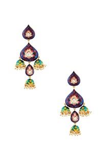 Multicolored jhumka earrings