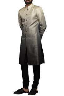 White & grey ombre style sherwani