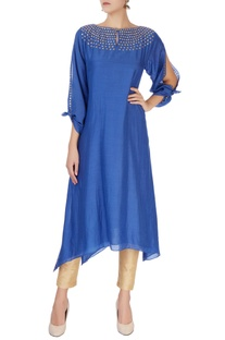 Blue double layered kurta