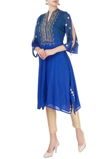 Blue gota  embroidered kurta