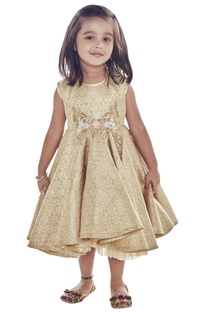 Gold & beige sequin embroidered dress