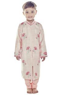 Light pink embroidered sherwani