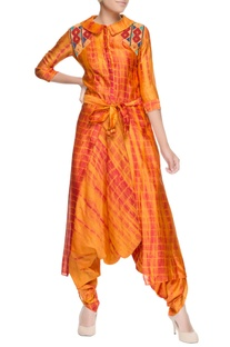 Yellow dhoti style jumpsuit