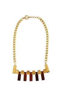 Gold geometric designed necklace