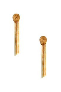 Gold plated tassel earrings