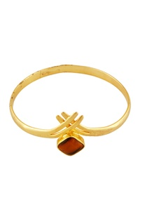 Gold tigers eye stone bangle