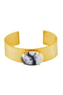 Gold wide cuff bangle