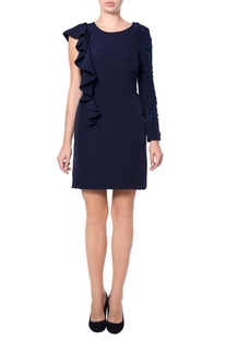 Navy blue dress with frills