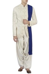 White bandhgala & white patiala pants