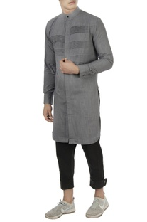 Grey pleated style kurta