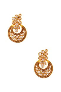 Gold plated chaanbali earrings