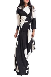 Black & white asymmetric dress