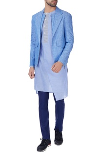 Blue linen evening jacket