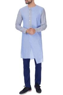 Blue stripe style long kurta