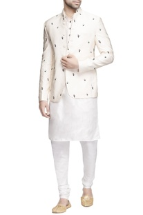 Vanilla white bandhgala with kurta