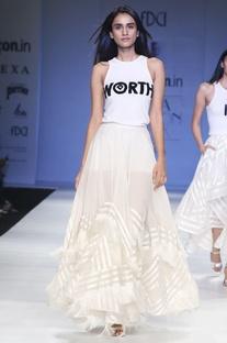 White organza tassel skirt