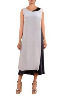 Black & white double layer dress