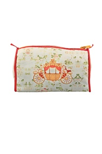 Off white shahi baghi travel pouch