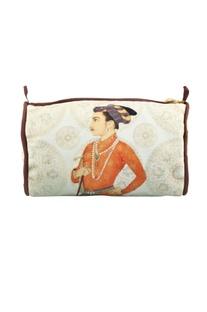 Beige shahjahan travel pouch