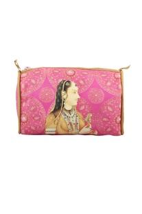 Pink gulabo rani travel pouch