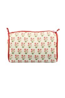 Cream pushpa travel pouch