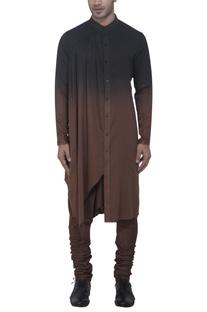 Black & brown ombre kurta