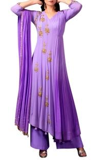 Lavender purple angarakha kurta set