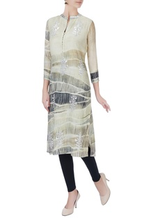 Multicolored digital printed kurta