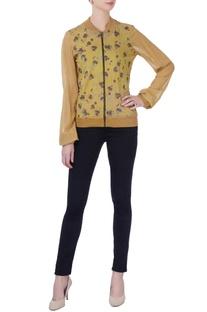 Ocher yellow printed jacket