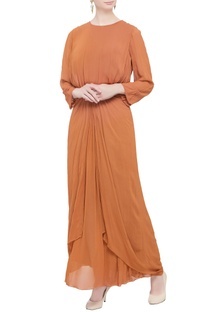Orange layered style gown