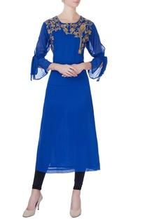 Royal blue georgette kurta