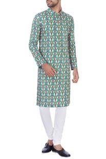Multicolored cotton kurta & churidar